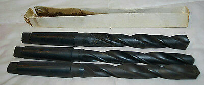 Lot Of 3 Taper Shank Drill Bits 2732 1316 2932 Hss Made In China