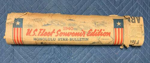 1940 U.S. Fleet Souvenir Edition Honolulu Star-Bulletin Newspaper April 26th