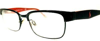 Ralph Lauren Polo Black Red Eyeglasses 8036 3136 Rectangular Frame 46-15 (Black And Red Eyeglasses)
