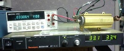 Adjustable Dc Power Supply 33v 33a 1000wt Tested Programmable Sorensen Dcs33-33e