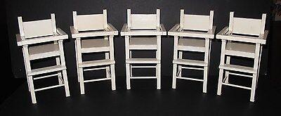♚ORIGINAL 1930's HTF Set of 5 Madame Alexander Dionne Quintuplet High Chairs