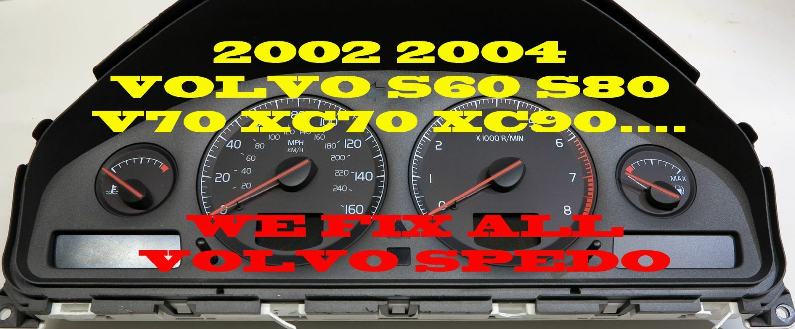 VOLVO S60 S80 V70 XC70 XC90 INSTRUMENT CLUSTER SOFTWARE & ODOMETER CALIBRATION