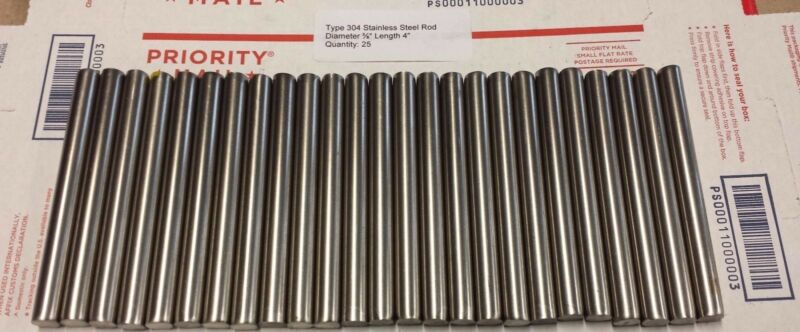 """Stainless Steel  Type 304  5/16"""" x 4"""" (25 pcs.)"""