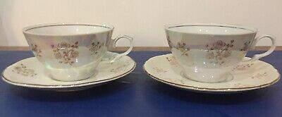 Kahla, GDR Mother of Pearl 2 x Cup & Saucer