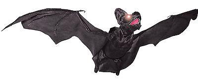 HALLOWEEN  ANIMATED FLYING BAT VAMPIRE SOUNDS HAUNTED HOUSE  PROP DECORATION - Halloween Animated Vampire
