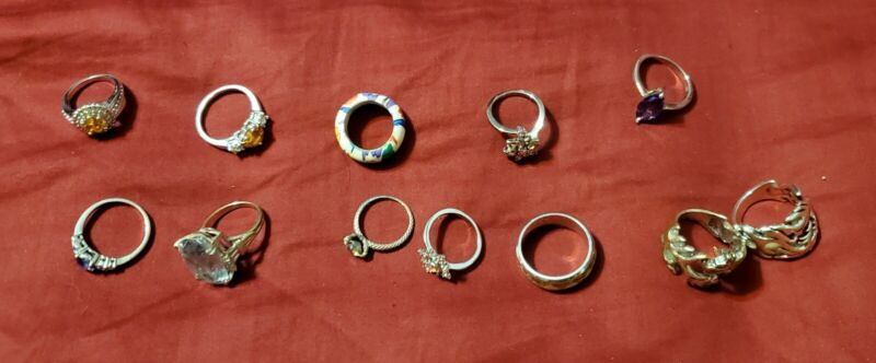 Lot Of 12 Rings, Various Sizes