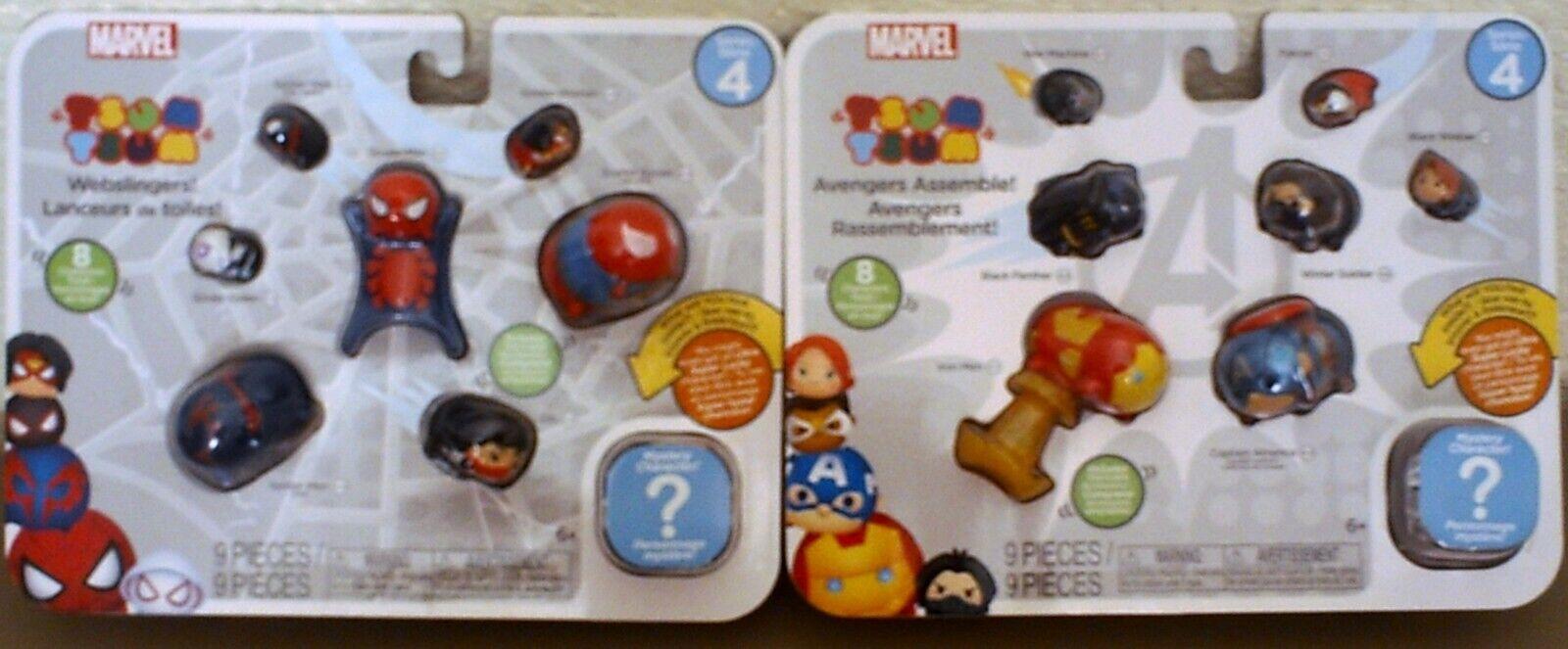 Jakks Pacific Series 4 Marvel Tsum Tsum 9 Piece Avengers + S