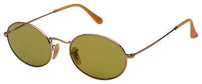 Ray-Ban Oval Flat Sunglasses RB 3547N 91314C 54 Gold   Green Classic G-15 (Ray Ban Oval Flat Sunglasses)