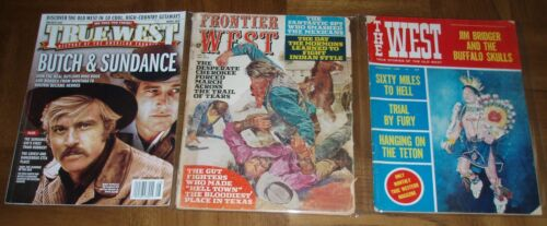 LOT OF 3 WESTERN MAGAZINES - 2019 TRUE WEST - 1966 THE WEST- 1972 FRONTIER WEST