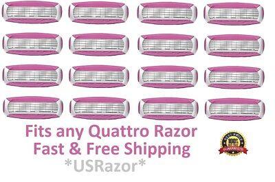 ~~16 Schick Quattro Women Razor Blades Shaver Refills Cartridges Quatro 4 8 New, used for sale  Shipping to India