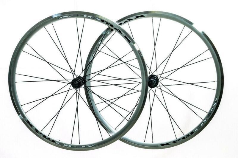 AEROMAX 700c Road Comp Silver Road Bike Wheelset Clincher Shimano/SRAM 7-11s NEW