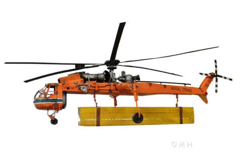 "Sikorsky S-64 Skycrane Heavy Lift Helicopter Metal Model 40"" Aerial Flying Crane"