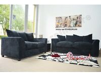 new jumbo cord sofa set 3 & 2 comfortable & stylish in grey or black color furniture