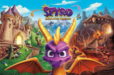 Rgc Huge Poster   Spyro Reignited Trilogy Ps4 Glossy Finish   Nvg228