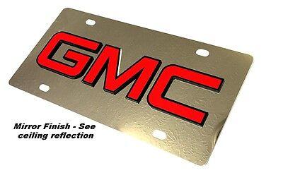 GMC Sierra Denali Polished Stainless Steel License Plate Truck Auto Tag (Sierra Denali Truck)