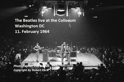 The Beatles Washington Coliseum 1964 8x12 unpublished photo