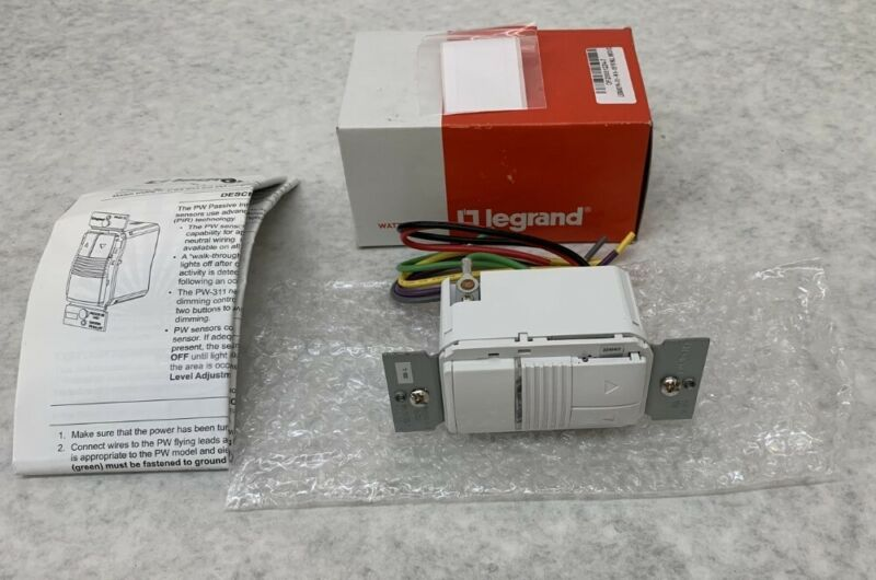 Legrand Wattstopper PW-311-W Passive Infrared 0-10V Dimming Wallswitch Occupancy