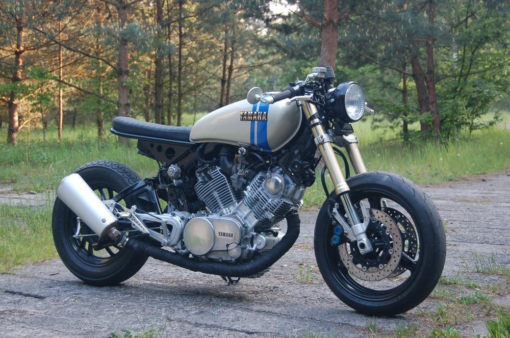 Yamaha Xv 750 Cafe Racer Tracker Custom Brat Style Bobber