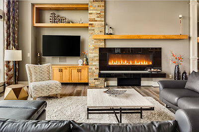 The fireplace can become the centre of the whole wall