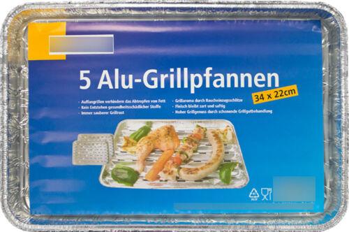 Alu Grillpfannen Grillpfanne 34 x 22 cm Grillschalen Grillschale Grill