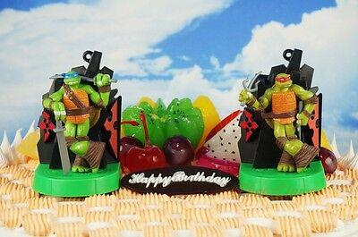 Teenage Mutant Ninja Turtles Raphael Leonardo Cake Topper Figure Decor K1084_B_D - Teenage Mutant Ninja Turtles Cake Decorations