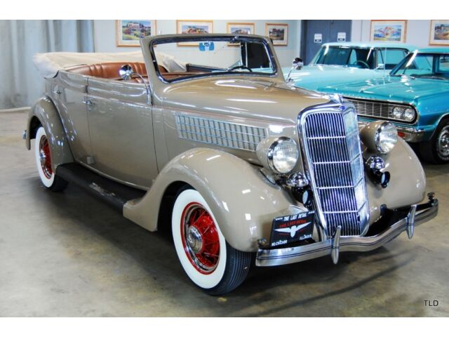 Ford : Other 1935 ford deluxe sedan convertible rare 1 700 hour full restoration histry