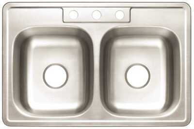 Premier Drop-In Stainless Steel Kitchen Sink 33