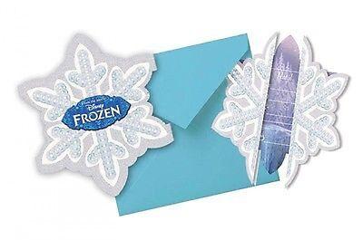 Disney Frozen 6 Einladungen mit Umschlag Party Einladung Karten Die Eiskönigin