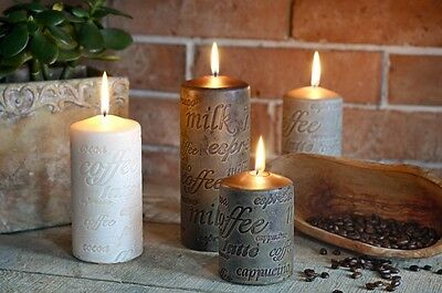 Pillar Candles LOVE and COFFEE Colection
