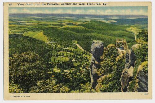 Cumberland Gap Tennessee Virginia Kentucky 1940s Vintage Postcard Cline Photo