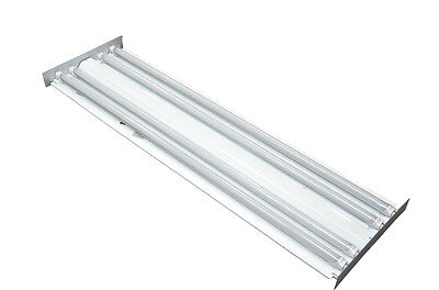 96w 4 Ft 4-light Flush Surface Mount Hardwired Fixture - 4x 24w Led T8 4500k