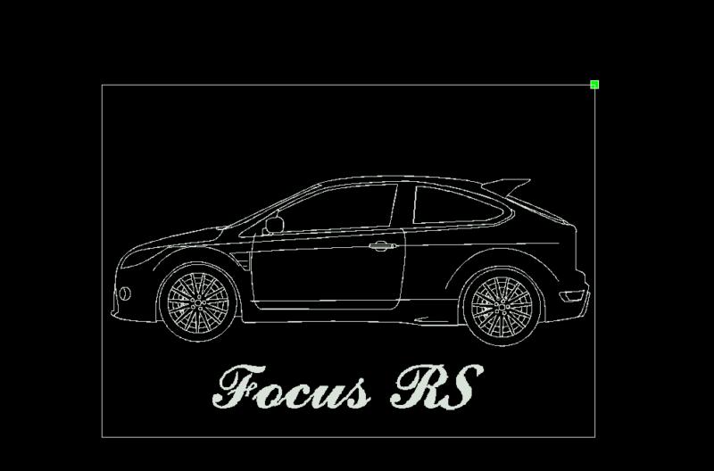Acrylglas Leuchtschild mit Lasergravur Ford Focus RS