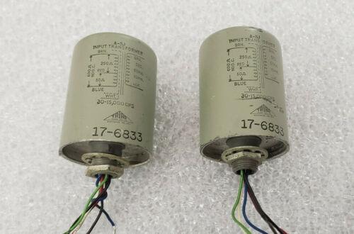 Pair Triad A-11J Mic Line Phono Input Transformer Wolfbox Reeves Neumann Neve DI