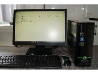eMachine Full Desktop PC, AMD Dual Core, 320GB HDD, 2GB Ram, Nvidia Graphics, WiFi, Windows 10