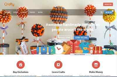 Fantastic Handmade Store Website Free Installationhosting