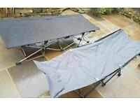 Camp beds x 2