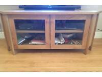 Oak colour corner TV cabinet