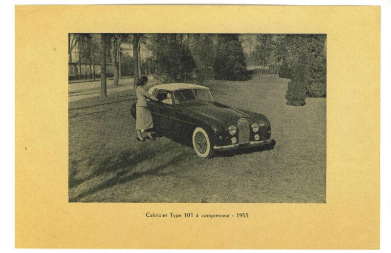 Bugatti  Type 101 Supercharged  Single Sheet   1953