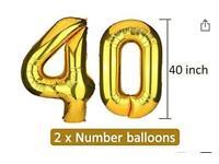 FREE - foil balloons 40th birthday