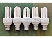 PHILIPS GENIE light bulb 11W WW 827 230-240V 50-60Hz 600lm 80mA B22 BC 8000h 8 years 5 pcs