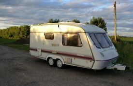 Elddis Crusader Hurricane 1989-1991 Model 2 berth TWIN axle with full awning.