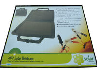 4W Amorphous Solar Panel Briefcase Charges 12V Batteries In Cars Caravans Boats Camping Or Projects!