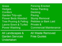 Gardening and landscapes. Fencing . Power washing . Patios. Decking