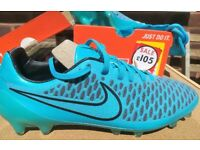 NIKE MAGISTA OPUS FG size 8 (42.5) FOOTBALL BOOTS Turquoise blue