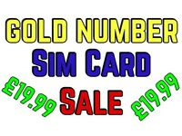 £19.99 GOLD MOBILE PHONE NUMBER EXCLUSIVE PLATINUM SIM CARD VIP EASY