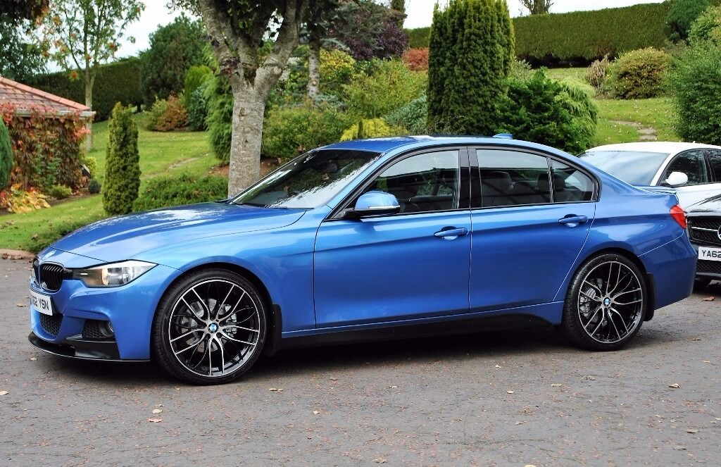 bmw f30 320d m sport in estoril blue in toomebridge. Black Bedroom Furniture Sets. Home Design Ideas