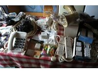 BARGAIN JOB LOT OF ( ELECTRICAL, VIDEO, AUDIO, TELEPHONE ) ACCESSORIES all for £ 20