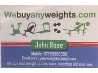 Cast iron weights plates wanted/gym equipment