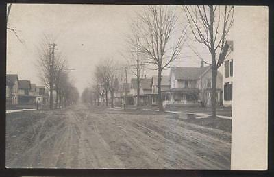 Rp Postcard Springville New York Ny  Residential St Family Houses Homes 1910S