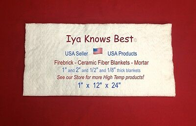 Ceramic Fiber Blanket 1x12x24 Thermal High Temp Insulation 2600f 8 Usa Made